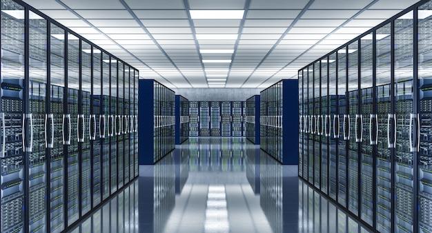 Imagem 3d do centro de dados