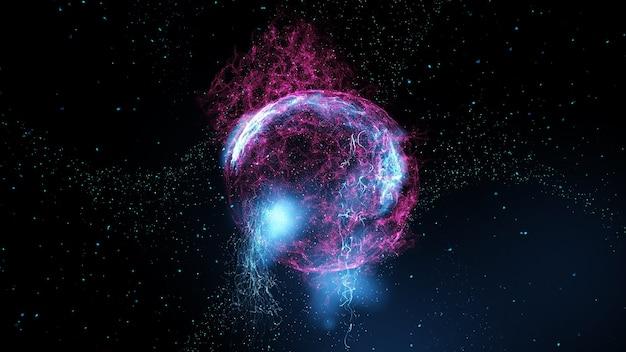 Imagem abstrata. planeta plasma