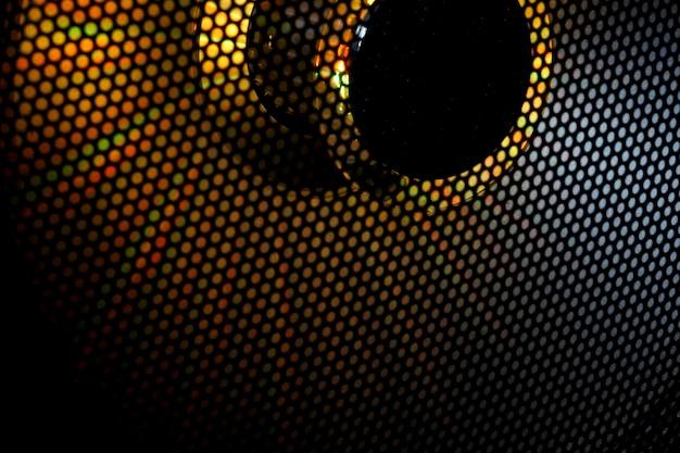 Imagem ampliada do alto-falante. fundo. textura