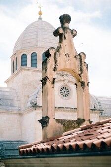 Imagem aproximada da cúpula de st. james sibenik croatia