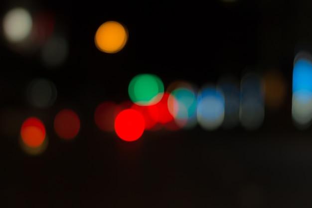 Imagem borrada de luzes