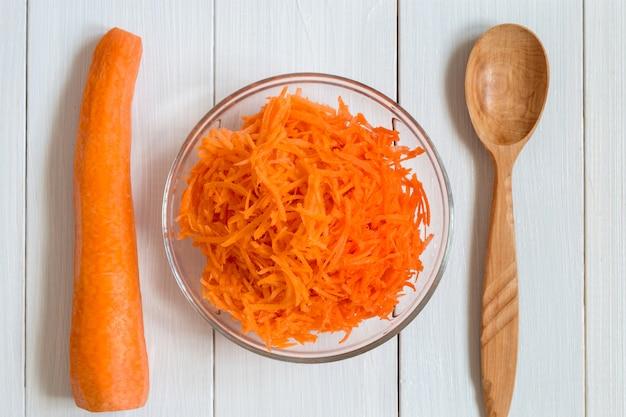 Imagem com cenoura ralada.