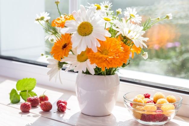 Imagem com um buquê de flores