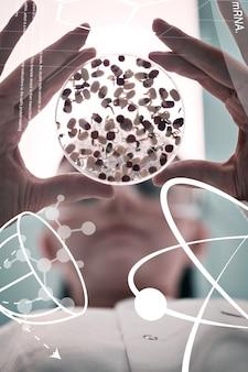 Imagem composta de ciência e gráfico médico