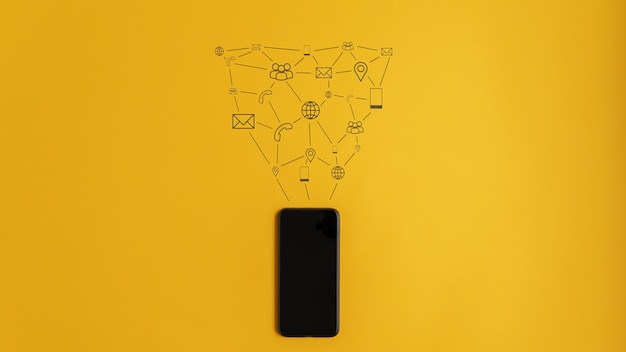 Imagem conceitual de comunicação e conexão