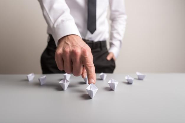 Imagem conceitual de liderança empresarial