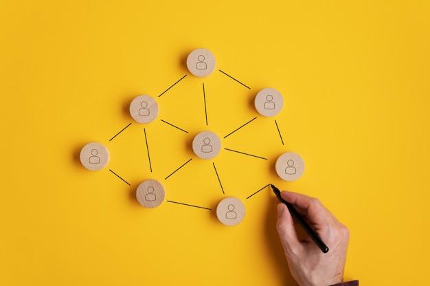Imagem conceitual de marketing de rede