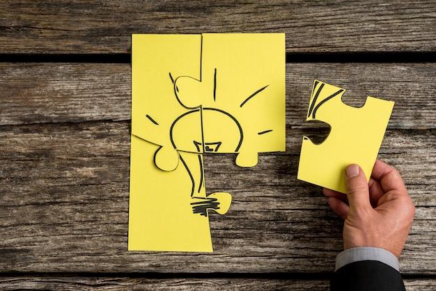 Imagem conceitual de negócios e idéias