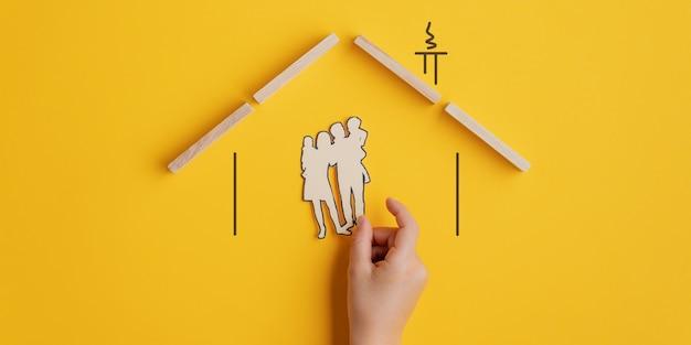 Imagem conceitual de seguro familiar ou adoção