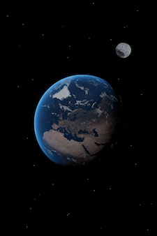 Imagem da europa no planeta terra