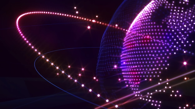Imagem da rede de comunicação do mundo imagem holograma da rede imagem ciência da computação