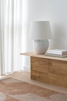 Imagem da sala de estar, decoração aconchegante de madeira