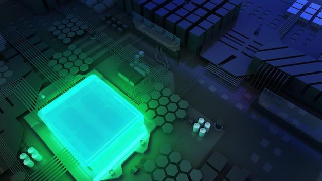 Imagem da unidade de processamento central na tecnologia de processamento de trabalho de segurança normalcpu