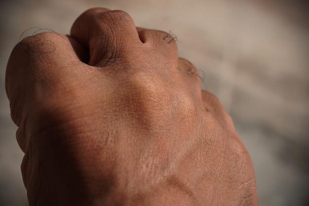 Imagem de close up de pés cansados