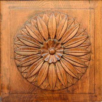 Imagem de close-up de uma porta antiga de madeira