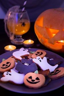 Imagem de close-up do conceito de abóbora de halloween