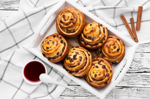 Imagem de close-up do conceito de pastelaria deliciosa