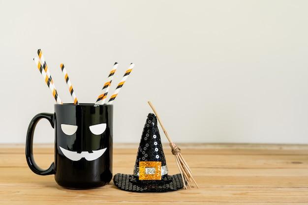 Imagem de decorações feliz dia das bruxas dia feriado conceito.