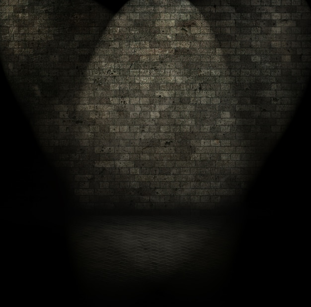 Imagem de estilo grunge de um interior de quarto escuro
