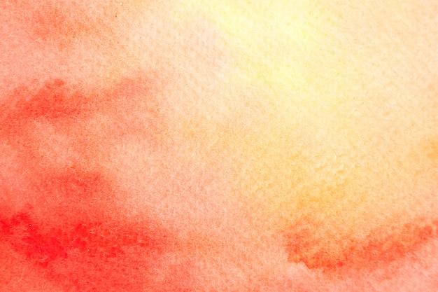Imagem de fundo abstrato vermelho e laranja com aquarela