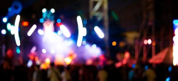 Imagem de fundo com luzes desfocadas do palco desfocado