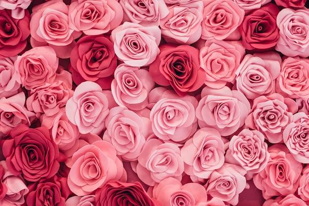 Imagem de fundo de rosas cor de rosa