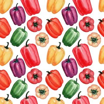 Imagem de fundo em aquarela de pimentas frescas