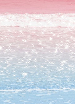 Imagem de fundo pastel das ondas do mar em ombre