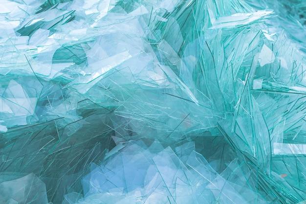 Imagem de resíduos de vidro para reciclagem na indústria