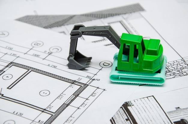 Imagem de vários desenhos para os empregos de engenheiro de projeto