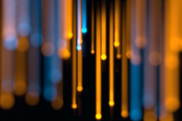 Imagem desfocada de luzes de fibra óptica