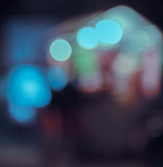 Imagem desfocada do bokeh das luzes da cidade