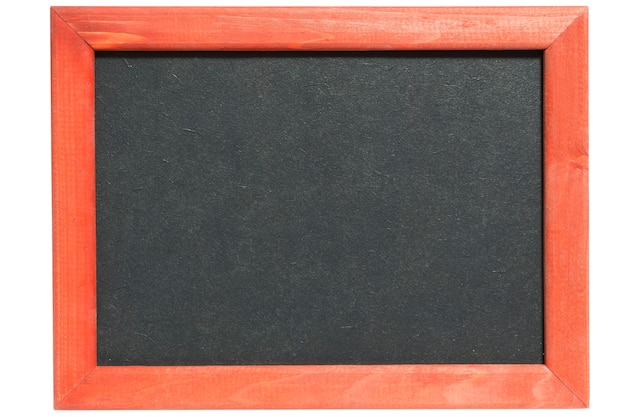 Imagem detalhada de uma lousa limpa com moldura de madeira vintage
