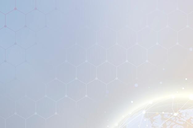 Imagem digital de um mundo do espaço sideral