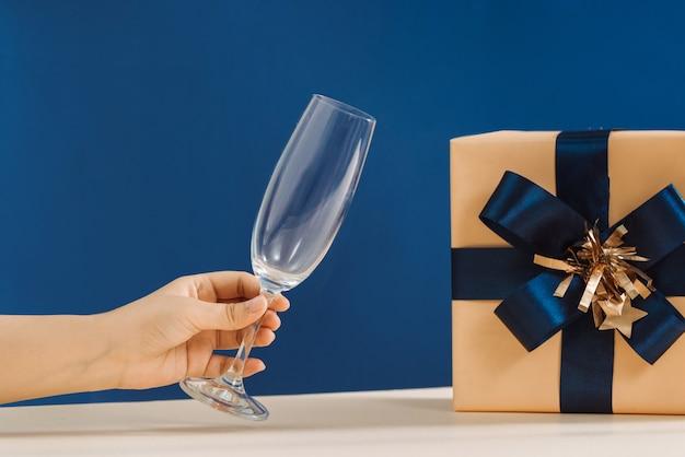 Imagem do conceito de férias e celebração de presente de ano novo de luxo