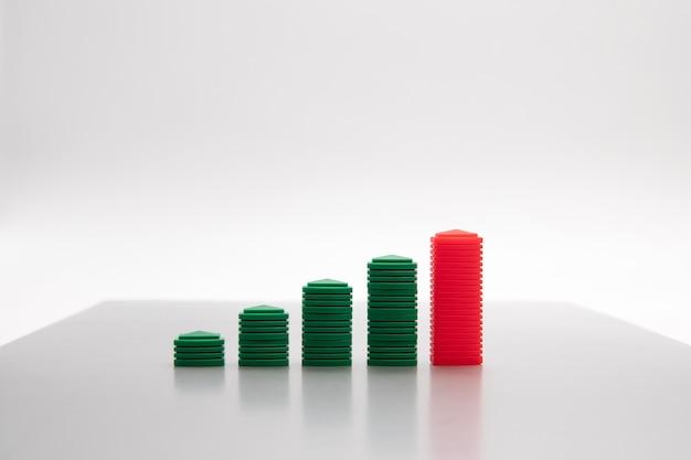Imagem do conceito do crescimento do negócio para o fundo do sumário do crescimento do negócio.