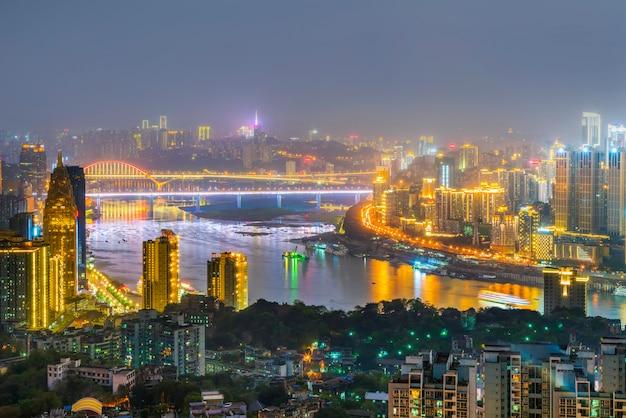 Imagem do por do sol definição de reflexão da construção chinesa