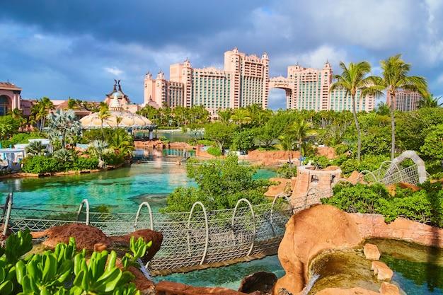 Imagem do resort nas bahamas nos trópicos