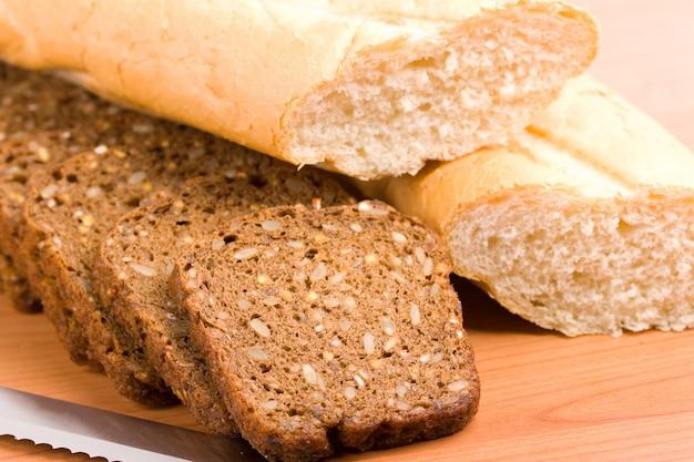 Imagem macro de pão acabado de cozer