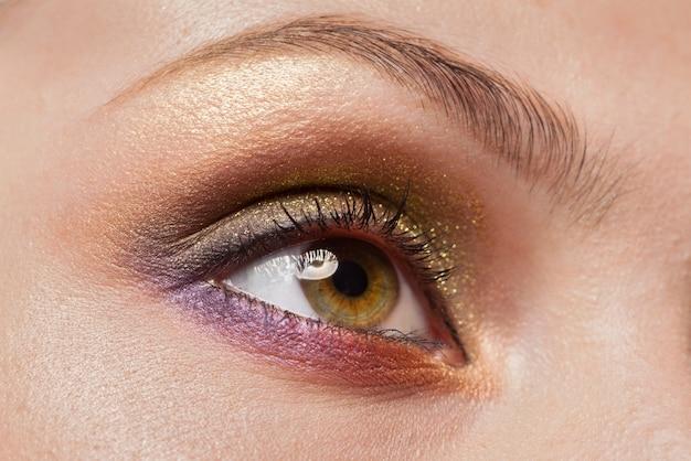 Imagem macro do olho de mulher