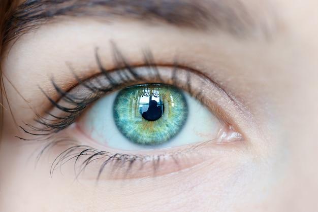 Imagem macro do olho humano