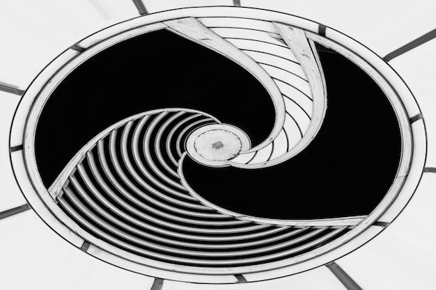 Imagem modificada abstrata da estrutura arquitetônica