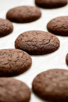 Imagem recortada de biscoitos de chocolate