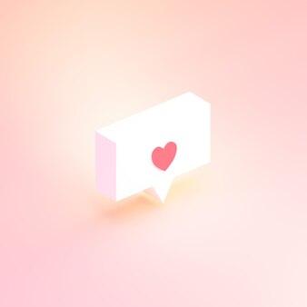 Imagem renderizada em 3d de mídia social como notificação