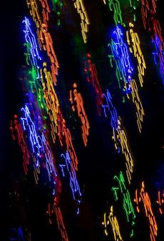 Imagem resumida de pintura com luz de longa exposição