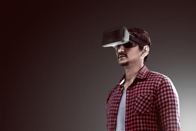 Imagens conceituais de realidade virtual