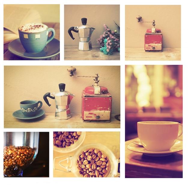 Imagens de copos de café colocados em uma caixa