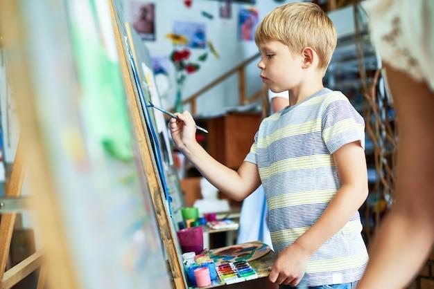 Imagens de pintura menino bonitinho