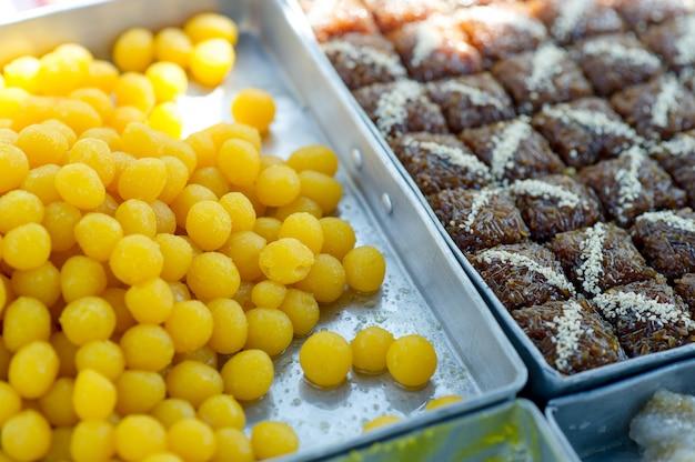 Imagens de sobremesa que são deliciosas conceito de snack com espaço de cópia