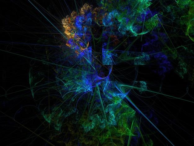 Imaginativo exuberante fundo abstrato fractal